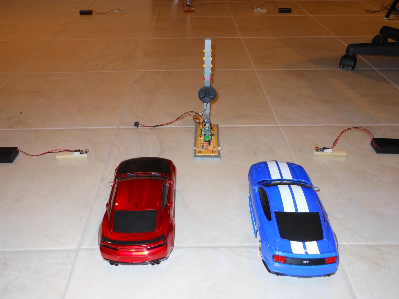 wixel based rc car drag racing christmas tree