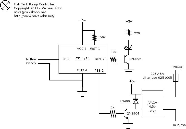 michael kohn fish tank pump control Hydraulic Cylinder Schematic fish tank pump control schematic