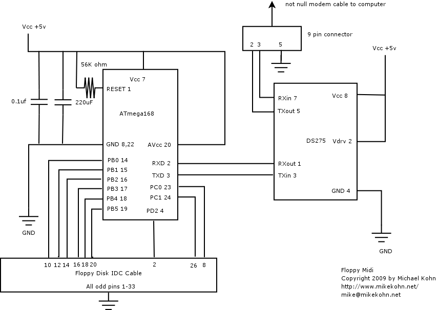 michael kohn floppy music  floppy disk music schematic