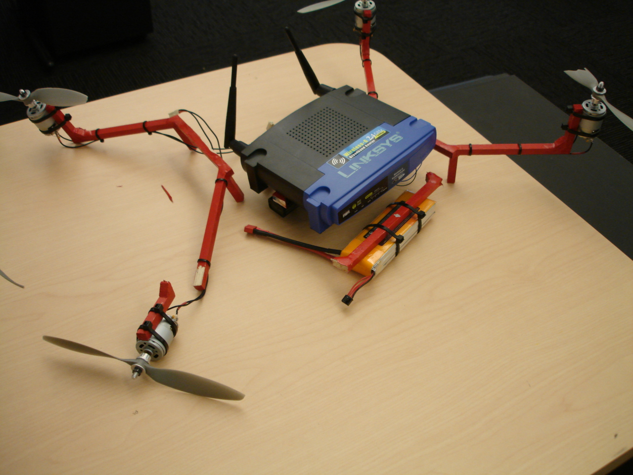 Michael Kohn Linksys Copter Wiring Diagram For Wrt54g Quadcopter Destroyed