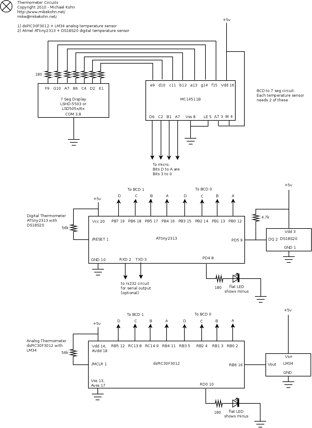 Michael Kohn Thermometer Circuit Diagram Of Electronic Schematic